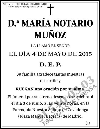 María Notario Muñoz